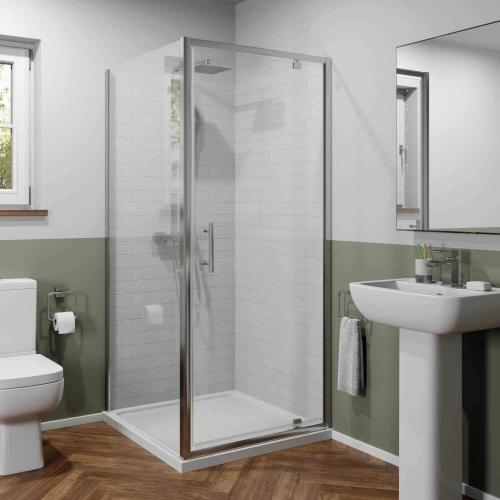 Geo Square Shower Cubicle, 800x800mm