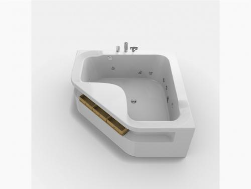 Aleutian Triangle Integrated Whirlpool Bathtub With Faucet, Jacuzzi 1000x500mm