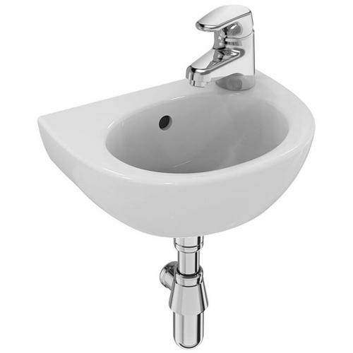 Sandringham Basin 350mmx290mm, And Chrome Bottle Trap, Right Hand Tap Hole