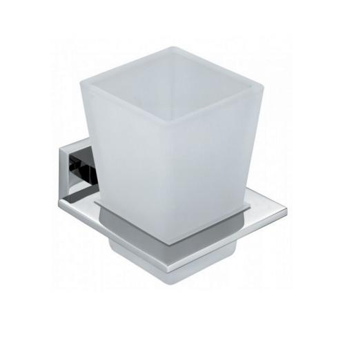 Frosted Glass Tumbler Holder
