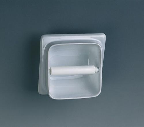 Built-in Semi Recessed Toilet Roll Holder, Ceramic