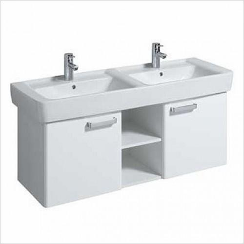 Galerie Plan 1300x480mm Basin And Furniture Unit-white Gloss