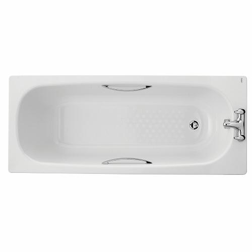 Celtic Bath, Enamelled Steel 1700x700mm, 2 Tap Holes, Slip Resist, 149 Litres