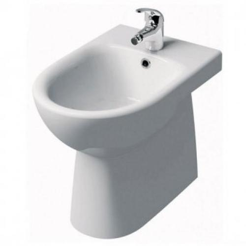 E100 Round Floor Standing Bidet, Back-to-wall 1th